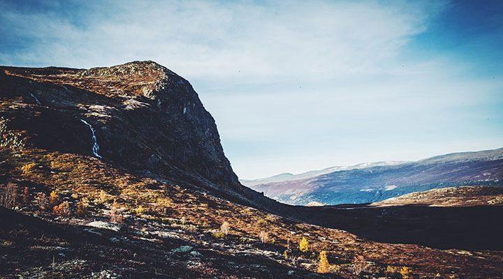 Bild på jotunheimen i Norge.